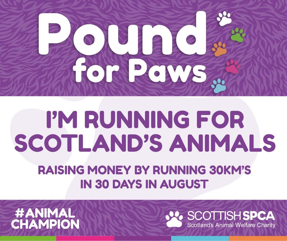 I'm running for Scotland's animals